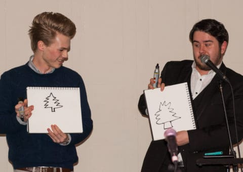 Chris Wall mind reader reveals a duplicated drawing on stage.